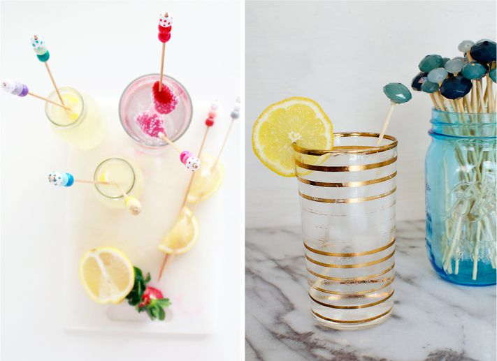 Mixer de drinks com miçangas